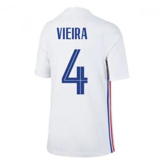 2020-2021 France Away Nike Football Shirt (Kids) (VIEIRA 4)