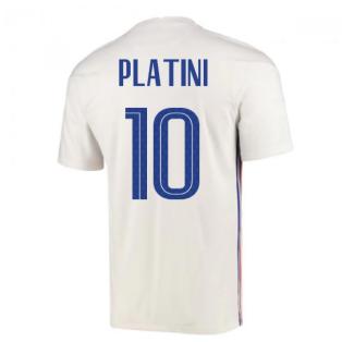2020-2021 France Away Nike Football Shirt (PLATINI 10)