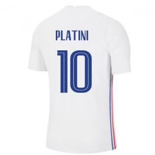 2020-2021 France Away Nike Vapor Match Shirt (PLATINI 10)