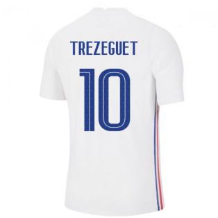 2020-2021 France Away Nike Vapor Match Shirt (TREZEGUET 10)
