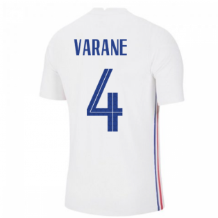 2020-2021 France Away Nike Vapor Match Shirt (VARANE 4)