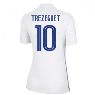 2020-2021 France Away Nike Womens Shirt (TREZEGUET 10)