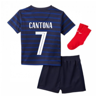 2020-2021 France Home Nike Baby Kit (CANTONA 7)