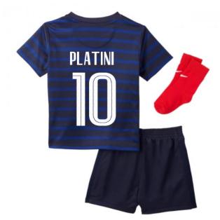 2020-2021 France Home Nike Baby Kit (PLATINI 10)