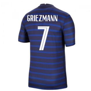 2020-2021 France Home Nike Football Shirt (GRIEZMANN 7)