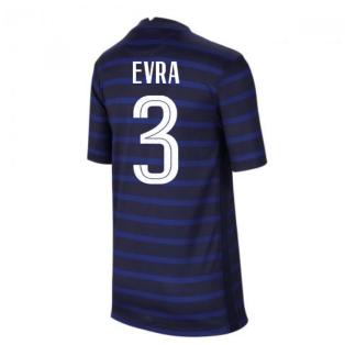 2020-2021 France Home Nike Football Shirt (Kids) (EVRA 3)