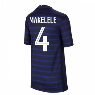 2020-2021 France Home Nike Football Shirt (Kids) (MAKELELE 4)