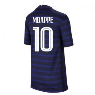 2020-2021 France Home Nike Football Shirt (Kids) (MBAPPE 10)