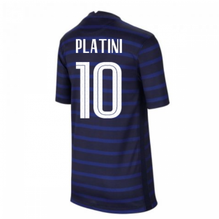 2020-2021 France Home Nike Football Shirt (Kids) (PLATINI 10)