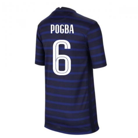 2020-2021 France Home Nike Football Shirt (Kids) (POGBA 6)