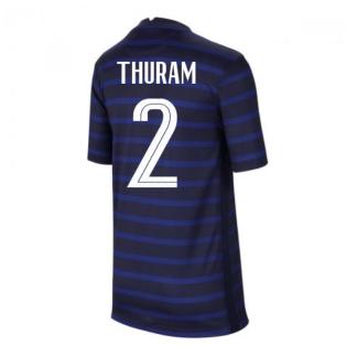 2020-2021 France Home Nike Football Shirt (Kids) (THURAM 2)