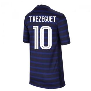 2020-2021 France Home Nike Football Shirt (Kids) (TREZEGUET 10)