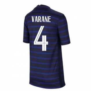 2020-2021 France Home Nike Football Shirt (Kids) (VARANE 4)