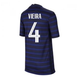 2020-2021 France Home Nike Football Shirt (Kids) (VIEIRA 4)