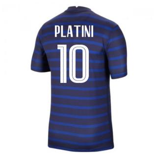 2020-2021 France Home Nike Football Shirt (PLATINI 10)