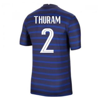 2020-2021 France Home Nike Football Shirt (THURAM 2)