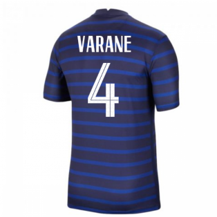 2020-2021 France Home Nike Football Shirt (VARANE 4)