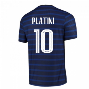 2020-2021 France Home Nike Vapor Match Shirt (PLATINI 10)