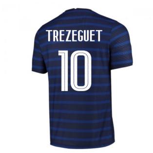2020-2021 France Home Nike Vapor Match Shirt (TREZEGUET 10)