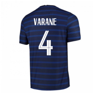 2020-2021 France Home Nike Vapor Match Shirt (VARANE 4)