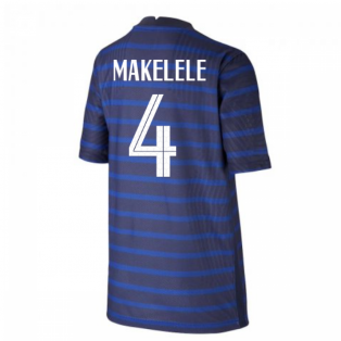 2020-2021 France Home Nike Vapor Shirt (Kids) (MAKELELE 4)