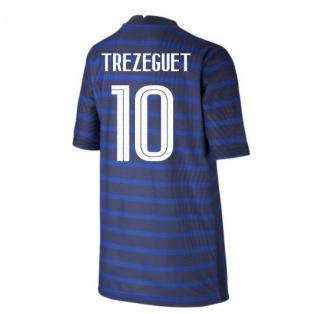 2020-2021 France Home Nike Vapor Shirt (Kids) (TREZEGUET 10)