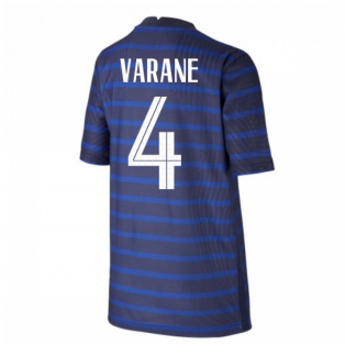 2020-2021 France Home Nike Vapor Shirt (Kids) (VARANE 4)