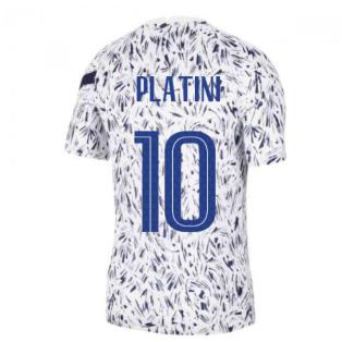2020-2021 France Nike Dry Pre-Match Training Shirt (White) (PLATINI 10)