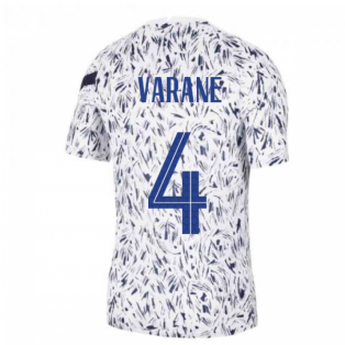 2020-2021 France Nike Dry Pre-Match Training Shirt (White) (VARANE 4)