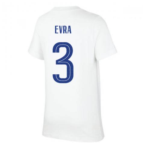 2020-2021 France Nike Evergreen Crest Tee (White) (EVRA 3)