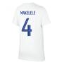 2020-2021 France Nike Evergreen Crest Tee (White) (MAKELELE 4)