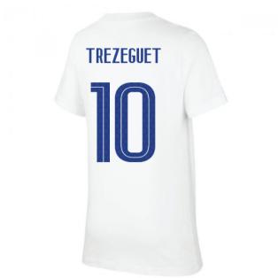 2020-2021 France Nike Evergreen Crest Tee (White) (TREZEGUET 10)