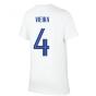 2020-2021 France Nike Evergreen Crest Tee (White) (VIEIRA 4)