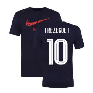 2020-2021 France Nike Ground Tee (Obsidian) (TREZEGUET 10)