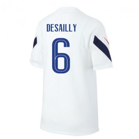 2020-2021 France Nike Training Shirt (White) (DESAILLY 6)
