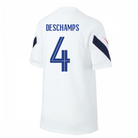 2020-2021 France Nike Training Shirt (White) (DESCHAMPS 4)