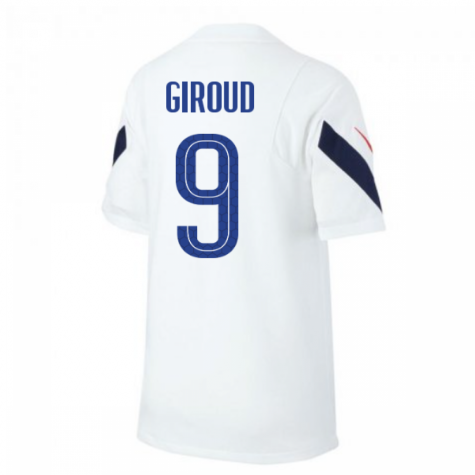 2020-2021 France Nike Training Shirt (White) (GIROUD 9)