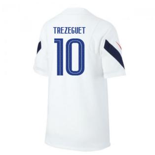 2020-2021 France Nike Training Shirt (White) - Kids (TREZEGUET 10)