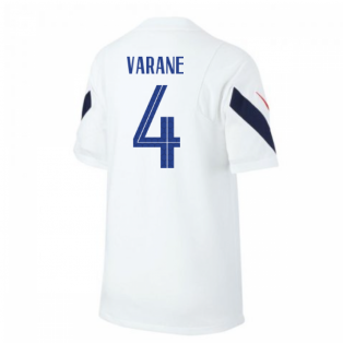 2020-2021 France Nike Training Shirt (White) - Kids (VARANE 4)