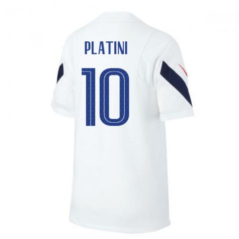2020-2021 France Nike Training Shirt (White) (PLATINI 10)