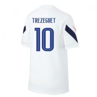 2020-2021 France Nike Training Shirt (White) (TREZEGUET 10)