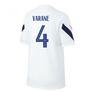 2020-2021 France Nike Training Shirt (White) (VARANE 4)