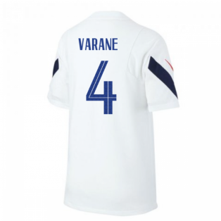 2020-2021 France Nike Training Shirt (White) (VARANE 4)