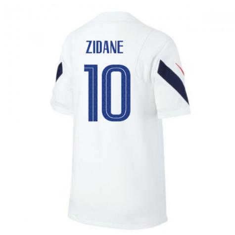 2020-2021 France Nike Training Shirt (White) (ZIDANE 10)