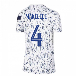 2020-2021 France Pre-Match Training Shirt (White) - Kids (MAKELELE 4)
