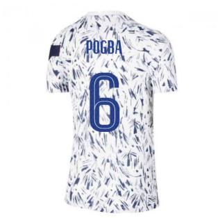 2020-2021 France Pre-Match Training Shirt (White) - Kids (POGBA 6)