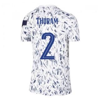 2020-2021 France Pre-Match Training Shirt (White) - Kids (THURAM 2)
