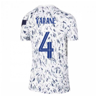 2020-2021 France Pre-Match Training Shirt (White) - Kids (VARANE 4)