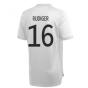 2020-2021 Germany Adidas Training Shirt (Grey) (RUDIGER 16)