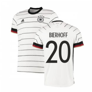 2020-2021 Germany Authentic Home Adidas Football Shirt (BIERHOFF 20)
